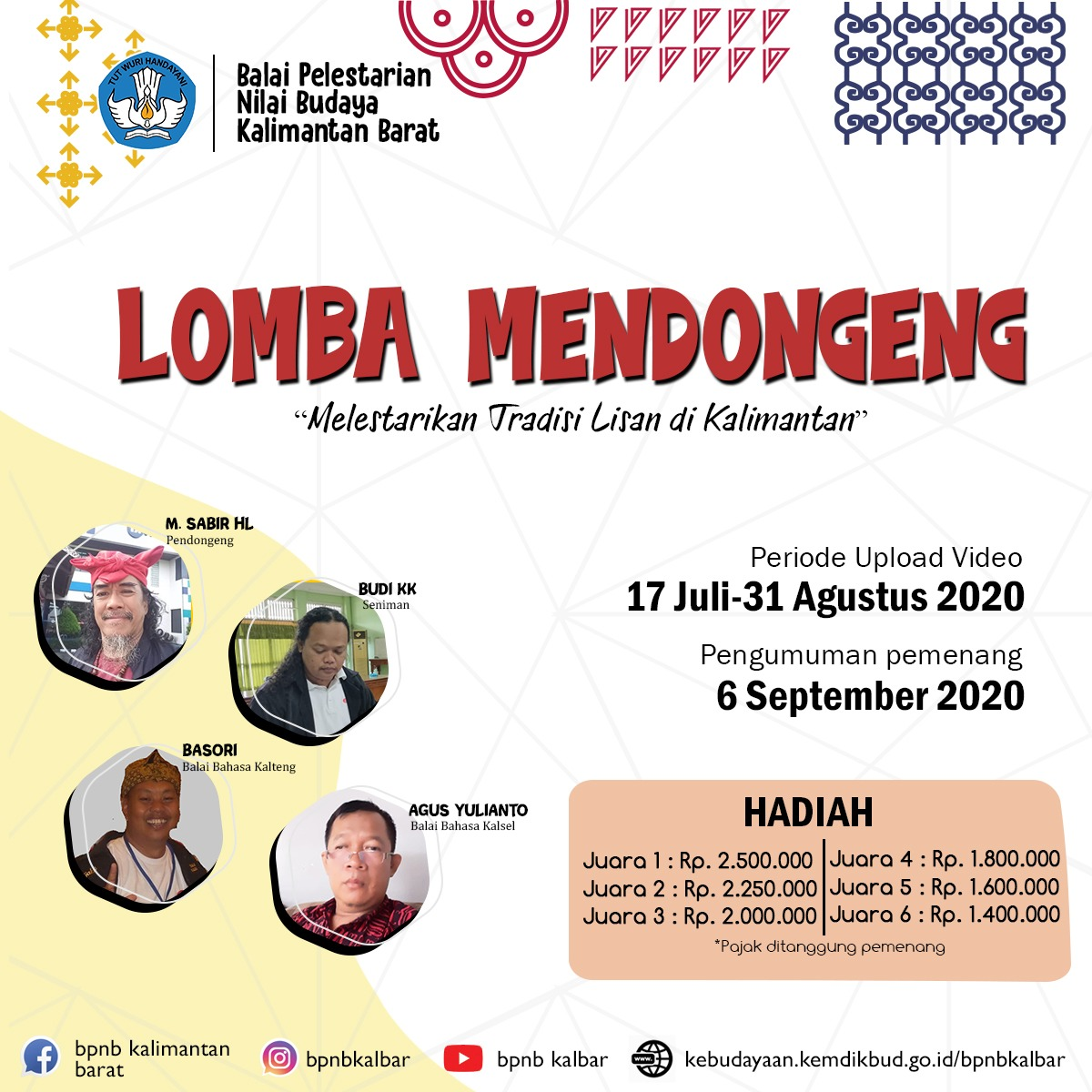 Read more about the article Memperkenalkan Cerita Rakyat Kalimantan Lewat Lomba Mendongeng