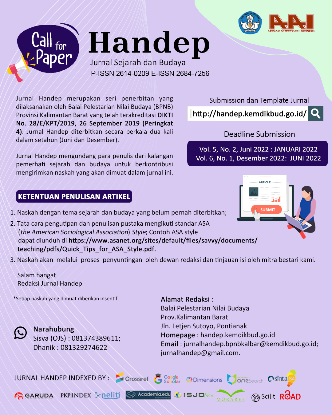 Read more about the article Call Paper Jurnal Handep Tahun 2022