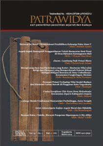 Read more about the article Jurnal Patrawidya, Volume 15, No. 1, Maret 2014