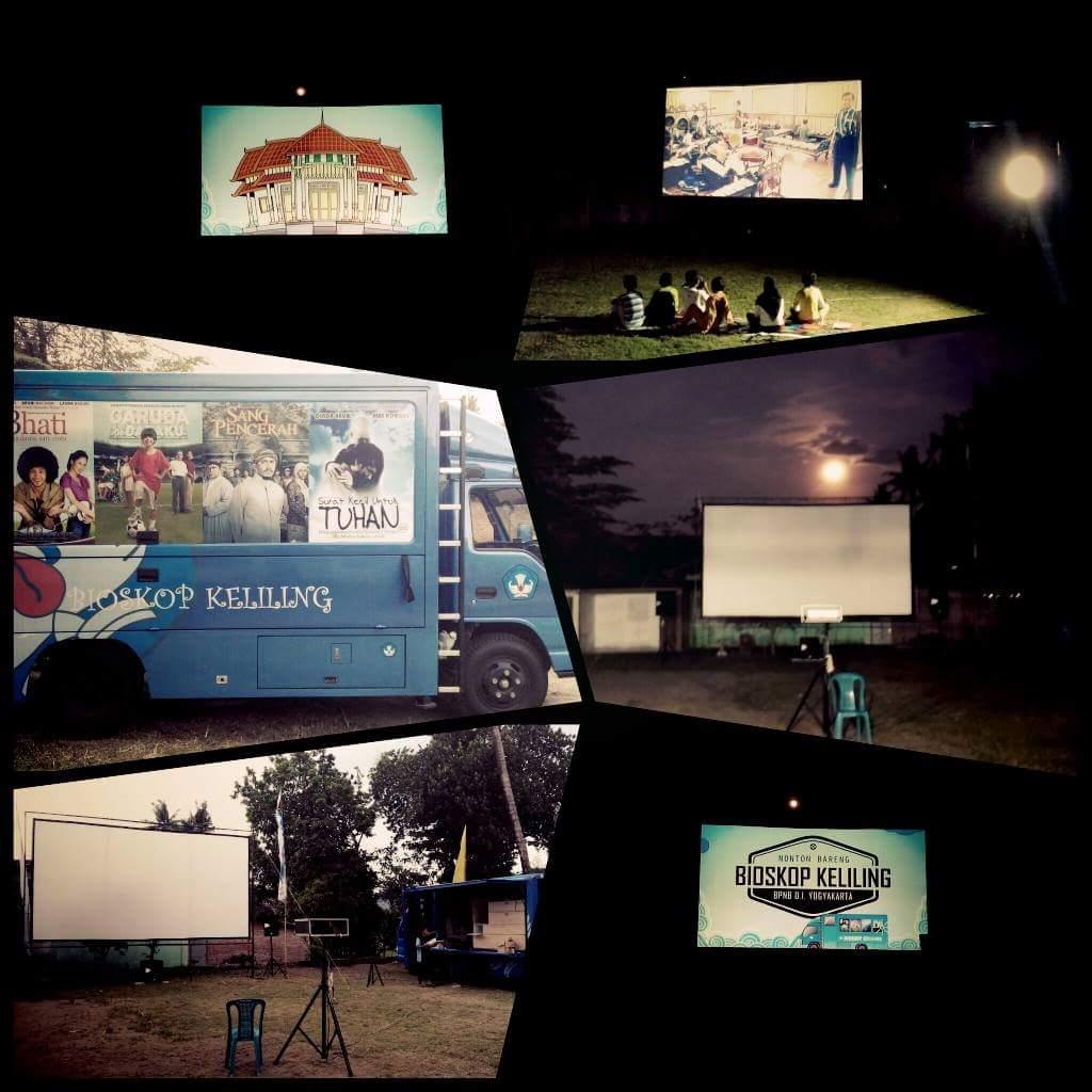 Pemutaran Bioskop Keliling Di SDN Rejowinangun III Kota