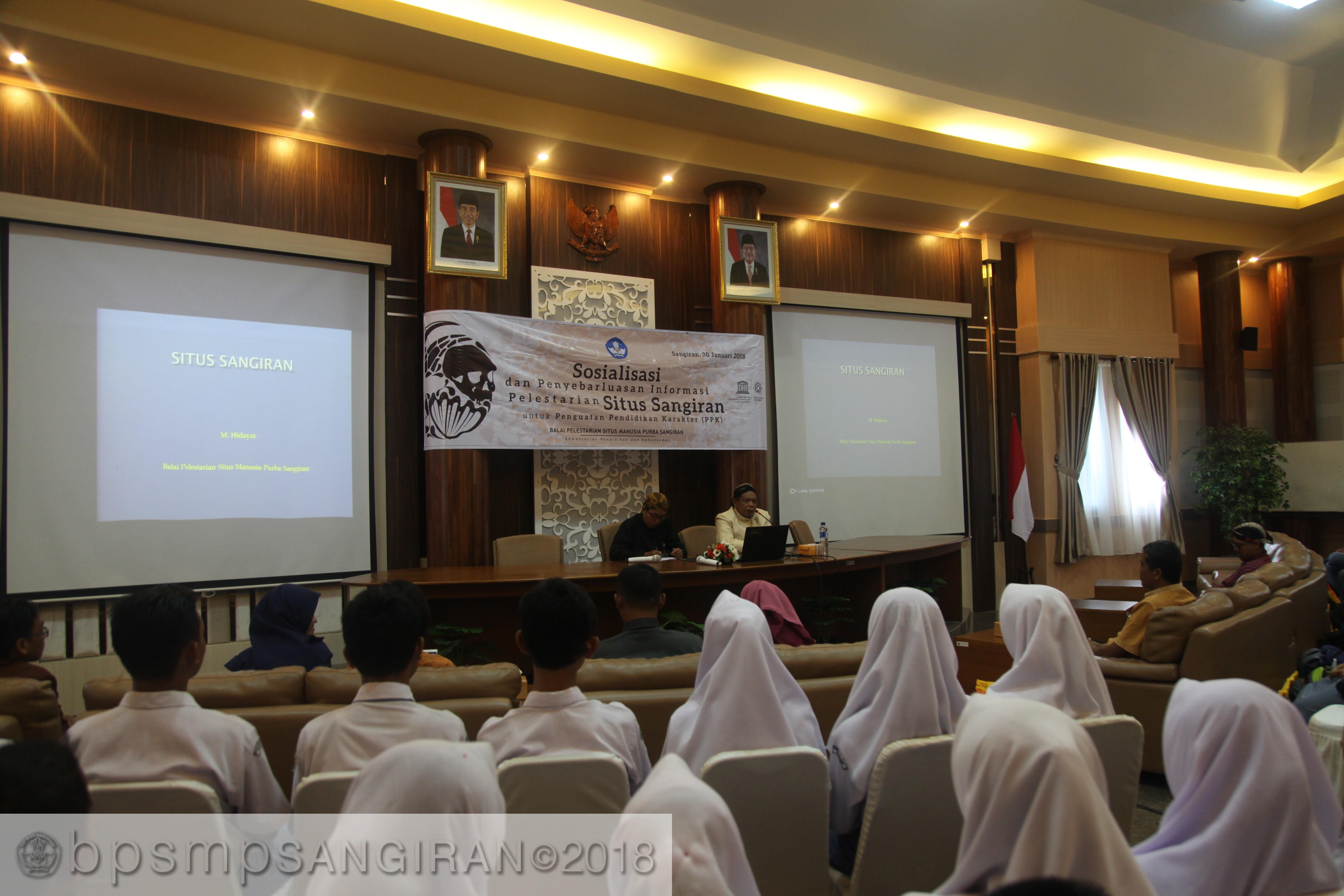 Read more about the article Sosialisasi Oleh BPSMP Sangiran Menyasar Generasi Muda