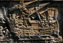 Relief Perahu Besar di Candi Borobudur (Sumber: Ery Sudewo)