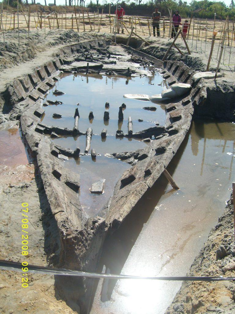 Kondisi perahu saat ditemukan pada 2008.
