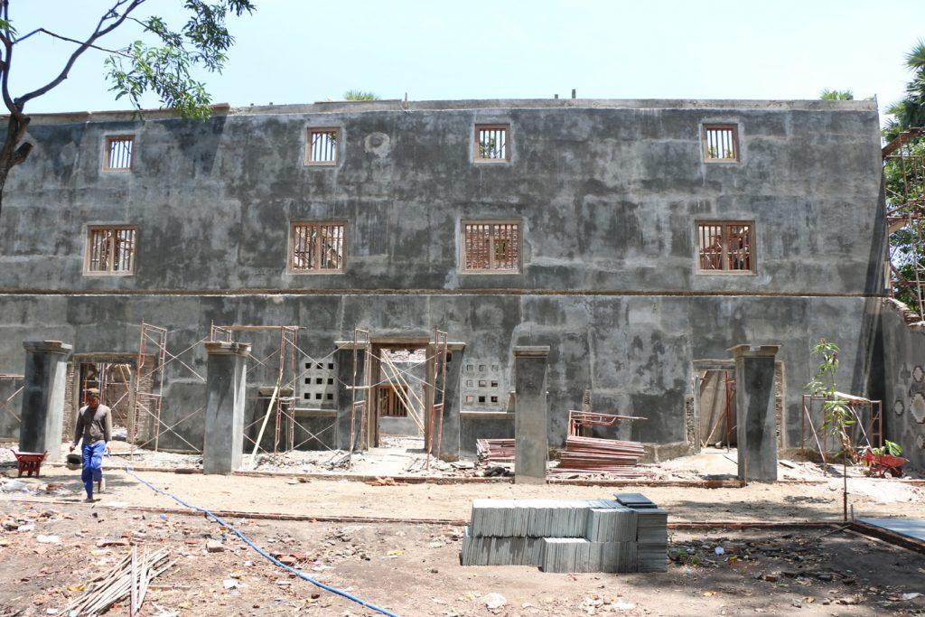 Gedung Pulantara saat dilakukan revitalisasi.