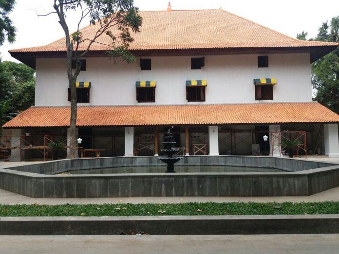 Gedung Pulantara Keraton Kanoman setelah selesai direvitalisasi.
