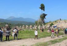 TACBN saat berkunjung ke Waruga Kuwil Kawangkoan di Kabupaten Minahasa Utara.