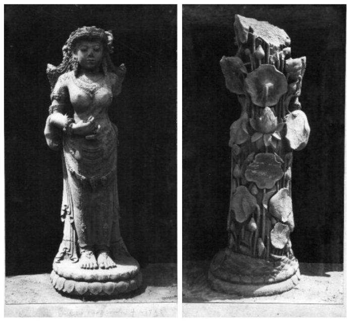 Arca Suhita Tampak Depan (kiri) dan Belakang (kanan)