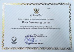 Read more about the article Selamat! Kota Semarang Lama Kini Jadi Kawasan Cagar Budaya Tingkat Nasional