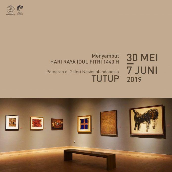 idul fitri, pameran di Galeri Nasional Indonesia tutup sementara