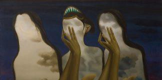 "Ivan Sagita, ""Meraba Diri"", 1988, cat minyak pada kanvas, 72 x 90 cm"
