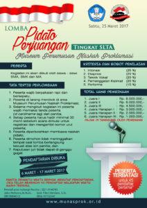 Read more about the article Pendaftaran Lomba Pidato Perjuangan Tingkat SLTA