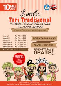 Read more about the article Pendaftaran Lomba Tari Tradisional Tingkat Sekolah Dasar