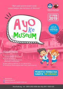 """Read more about the article Pendaftaran Peserta Kegiatan """"Ayo Ke Museum"""" Tingkat Taman Kanak-Kanak/PAUD Se-Jabodetabek"""