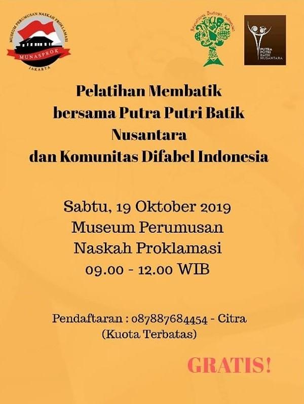 Read more about the article BELAJAR MEMBATIK BERSAMA BELANTARA BUDAYA INDONESIA