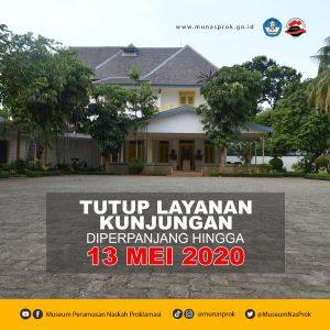 Read more about the article Tutup Layanan Kunjungan Diperpanjang Sampai 13 Mei 2020