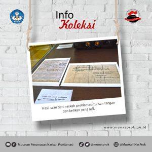 Read more about the article [Info Koleksi] – NASKAH TULISAN TANGAN dan TEKS OTENTIK PROKLAMASI
