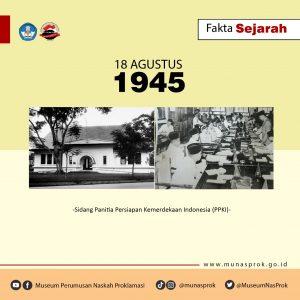 Read more about the article [FAKTA SEJARAH : Sidang PPKI 18 Agustus 1945]