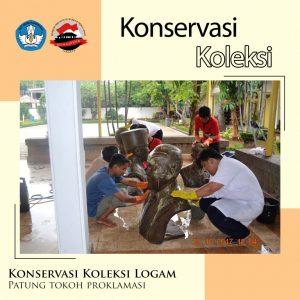 Read more about the article [KONSERVASI KOLEKSI : Patung Logam Tokoh Proklamasi]