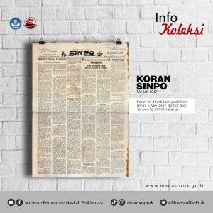 Read more about the article [INFO KOLEKSI : Koran Sinpo]
