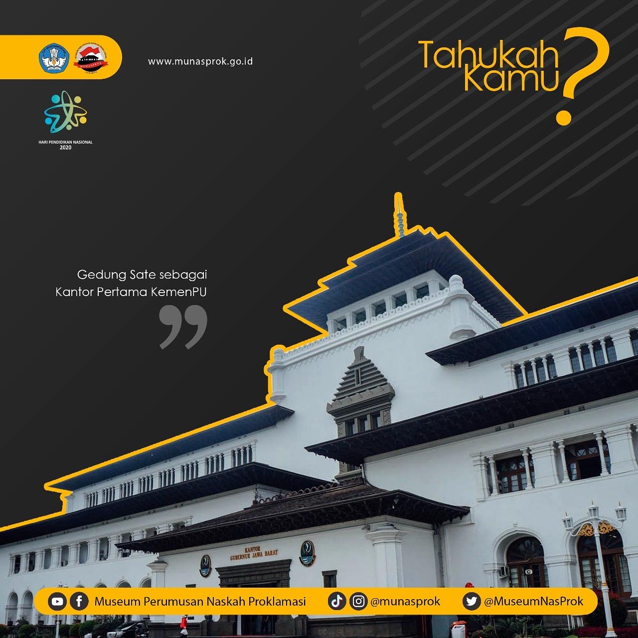 Read more about the article [TAHUKAH KAMU : Gedung Sate sebagai Kantor Pertama Kementerian PU]