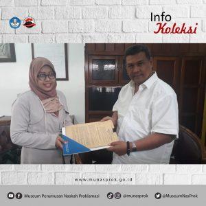 Read more about the article Penyerahan Koleksi Soedjono Rahardjo