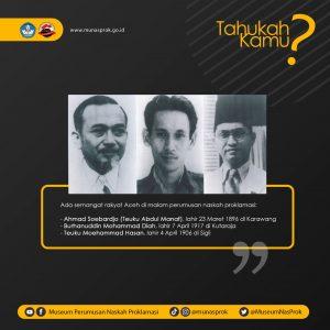 Read more about the article [TAHUKAH KAMU : 3 Tokoh Aceh di Malam Perumusan Naskah Proklamasi]
