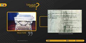 Read more about the article [TAHUKAH KAMU : Mesin Ketik dan Naskah Proklamasi]