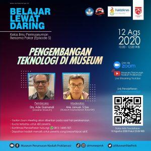 """Read more about the article Pendaftaran Peserta """"Kelas Ilmu Permuseuman Bersama Pakar"""" – Episode 5"""