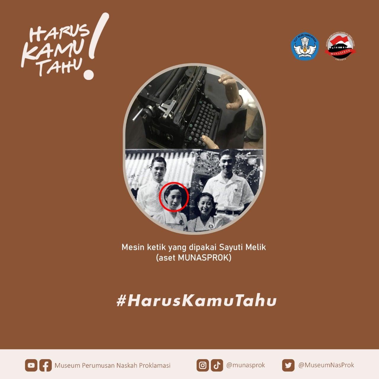 Read more about the article [HARUS KAMU TAHU : Mesin Ketik Proklamasi]