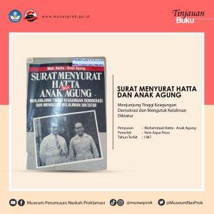 Read more about the article [TINJAUAN BUKU] – Surat Menyurat Mohammad Hatta dan Ide Anak Agung Gde Agung. Mohammad Hatta