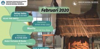 Kalender Kegiatan publik Februari 2020
