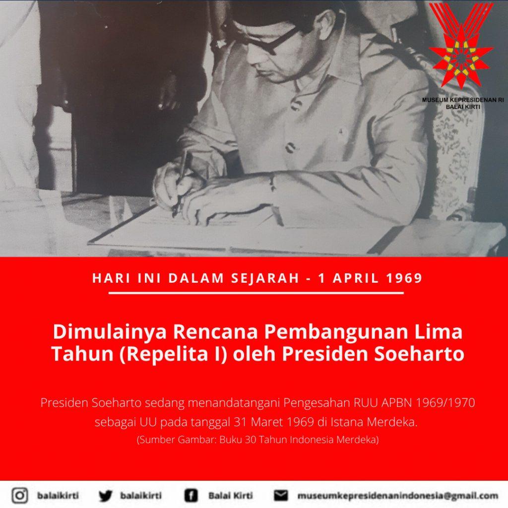Repelita 1 April 1969 Museum Kepresidenan Ri Balai Kirti