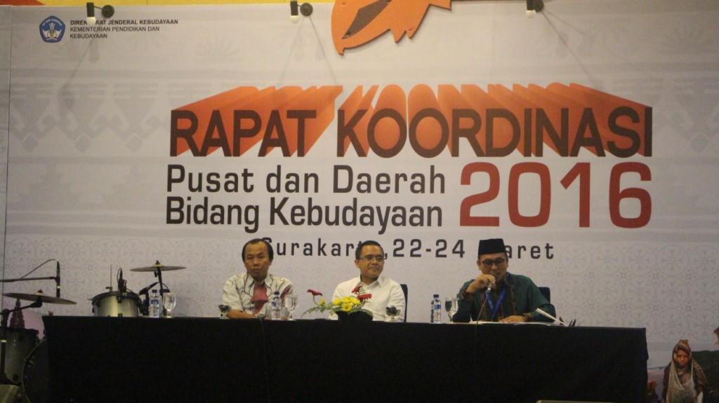 You are currently viewing Sidang Pleno II Rakor Pusat dan Daerah Bidang Kebudayaan 2016