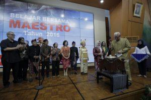 Read more about the article Pembekalan dan Pelepasan Peserta Belajar Bersama Maestro 2016