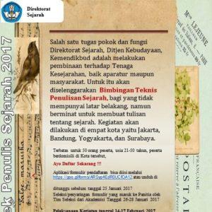 Read more about the article Bimbingan Teknis Penulisan Sejarah Tahun 2017