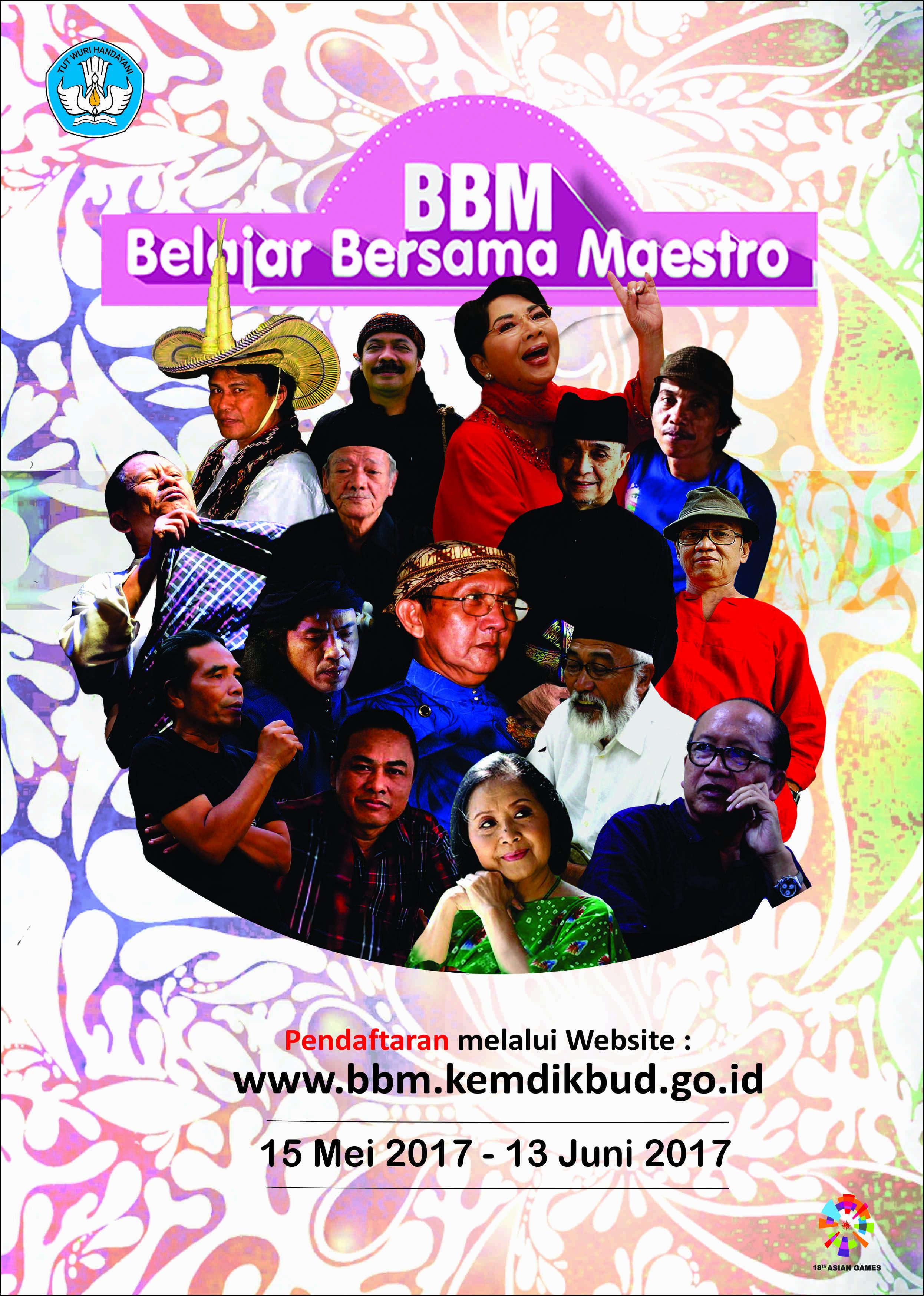 Read more about the article Pendaftaran Belajar Bersama Maestro Sudah Dibuka