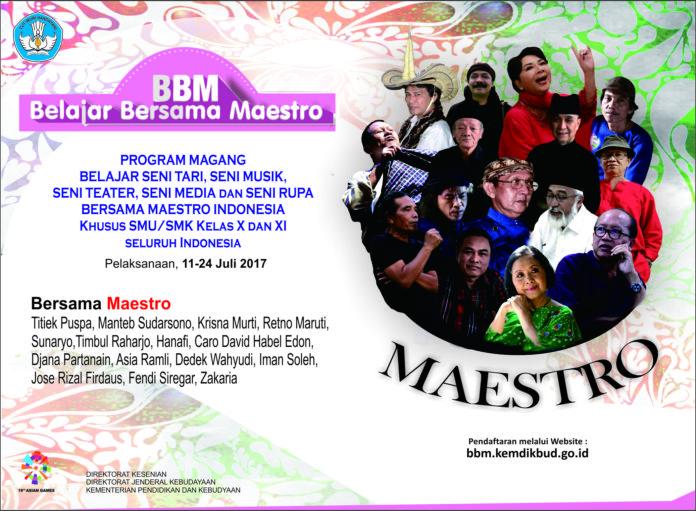 Read more about the article Hasil Seleksi Peserta Belajar Bersama Maestro Tahun 2017