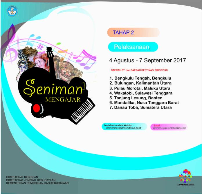 Read more about the article Hasil Seleksi Seniman Mengajar Tahap II 2017
