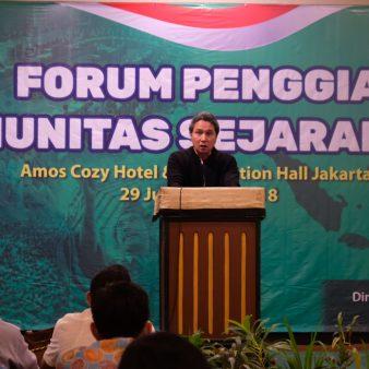 Foto: Keynotes Speaker Ketua Masyarakat Sejarawan Indonesia (MSI) Pada Forum Penggiat Komunitas Sejarah 2018