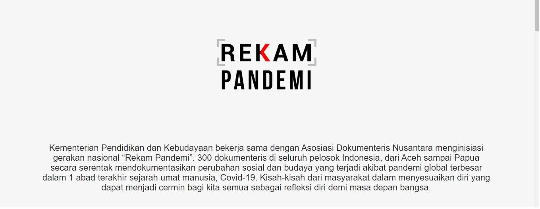 Read more about the article Program Rekam Pademi, 300 Karya Arsip Kemanusiaan Siap Mengudara